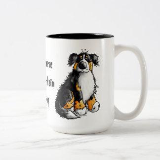 Funny Bernese Mountain Dog Cartoon Mug