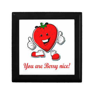 Funny Berry nice unique strawberry pun quote Small Square Gift Box
