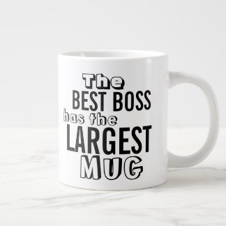 Funny Best Boss Quote Large Big Mug - Office Humor