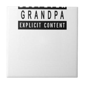 Funny Best Grandpa Ever T-Shirt Perfect Gift Ceramic Tile