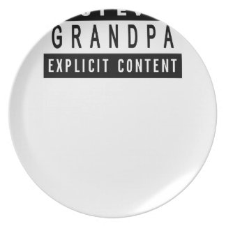 Funny Best Grandpa Ever T-Shirt Perfect Gift Plate