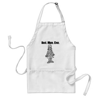 Funny Best Mom Ever Mummy Pun Cartoon Standard Apron