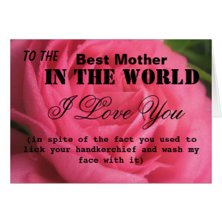 Funny Best Mother Card