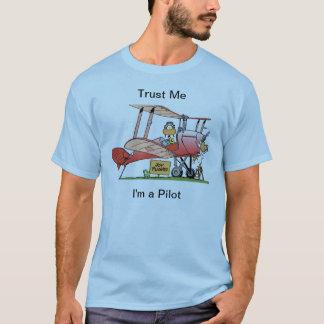 Funny Bi-Plane Pilot Shirt