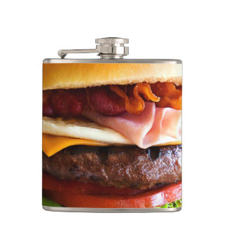 Funny big burger flask