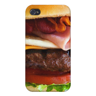 Funny big burger iPhone 4 covers