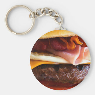 Funny big burger key ring