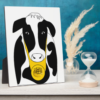 Funny Big Cheese Boss Cow 8x10 Plaque