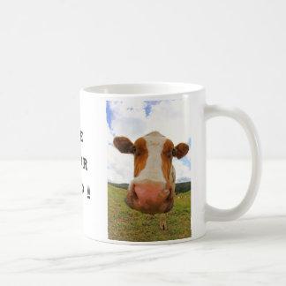 Funny big cow that says Use your head Coffee Mug