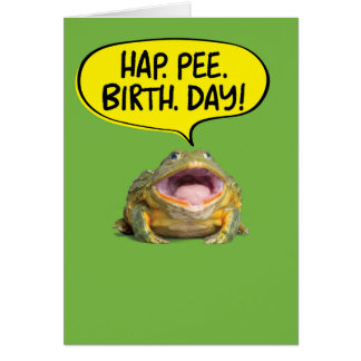 Funny Big Mouth Frog For Hearing Impaired Birthday Card