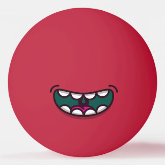 Funny Big Mouth Monster. Ping Pong Ball