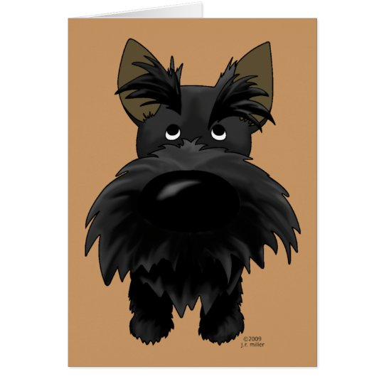 Funny Big Nose Scottie Card