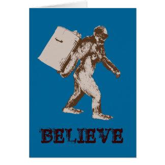 Funny Bigfoot Card