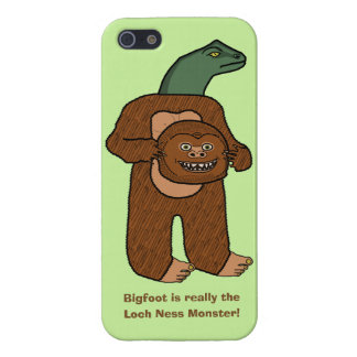 Funny Bigfoot Loch Ness Monster Cartoon iPhone 5/5S Cover