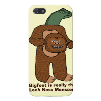 Funny Bigfoot Loch Ness Monster Cases For iPhone 5