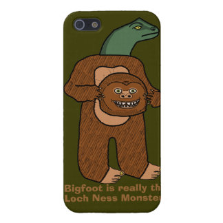 Funny Bigfoot Loch Ness Monster iPhone 5 Case