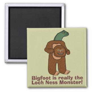 Funny Bigfoot Loch Ness Monster Refrigerator Magnets