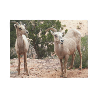 Funny Bighorn Sheep at Zion National Park Doormat