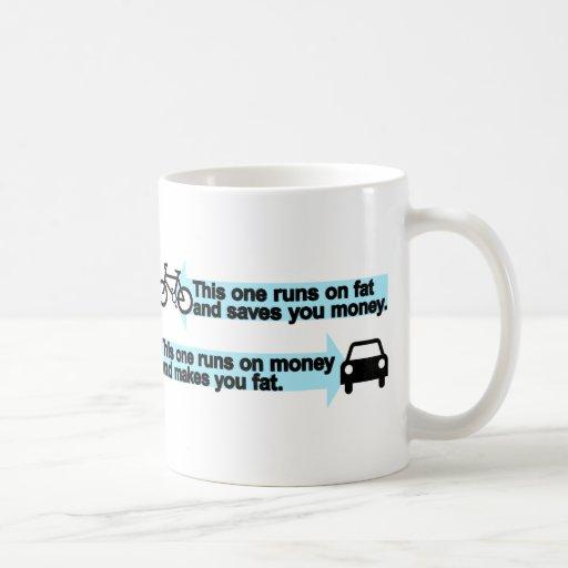 Funny Bike versus Car Mug