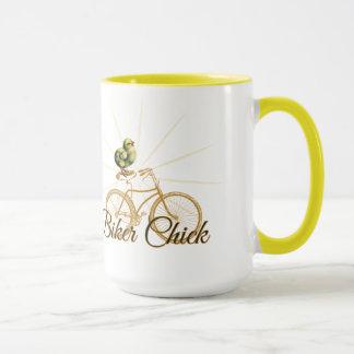 Funny Biker Chick Vintage Mug