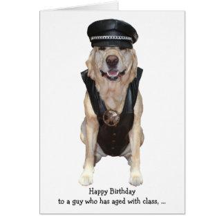 Funny Biker Lab Card