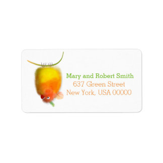 Funny bird adress label Baby Shower collection. Address Label