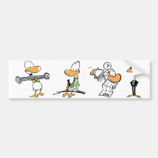 Funny Bird Cartoons Bumper Sticker