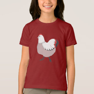 Funny Bird, Girls' Basic American Apparel T-Shirt