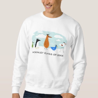 Funny Bird Graduates with Customizable Text Sweatshirt