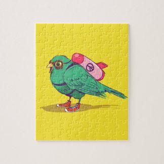 Funny bird jigsaw puzzle