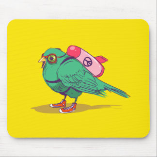 Funny bird mouse pad