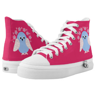 funny bird printed shoes