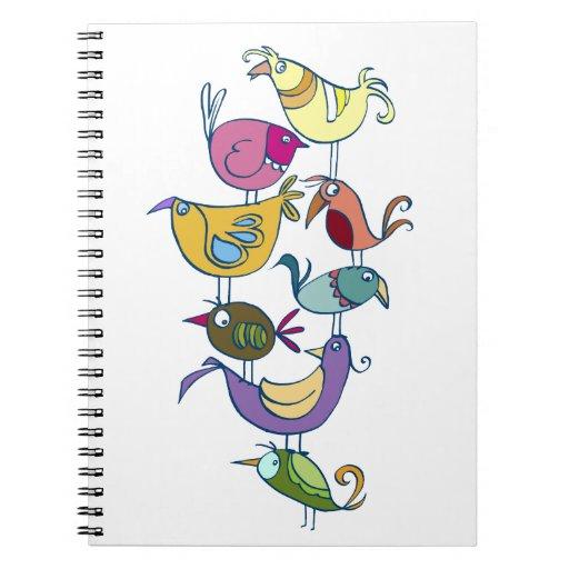 Funny birds note book