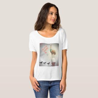 Funny Birds T-Shirt Inspirational Text Ostrich