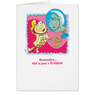 Funny Birthday: Age is just a number Card