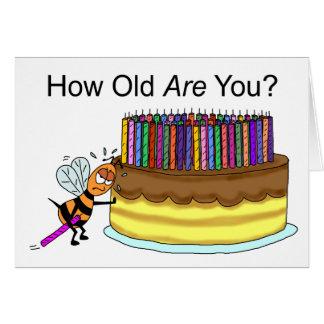 Funny Birthday Card:  Birthday Candle Beeswax Card
