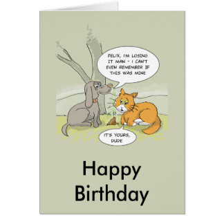 Funny birthday card: Dog Poo Card