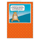 Funny birthday card: Evil Kitty Card