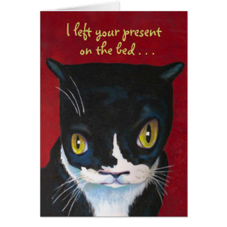 Funny Birthday Card from Cat