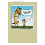 Funny birthday card: Little Horse Greeting Card