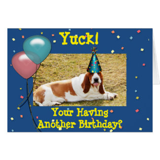 Funny Birthday Card with Basset Hound