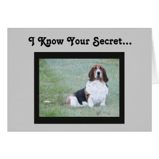 Funny Birthday Card With Cute Basset Hound