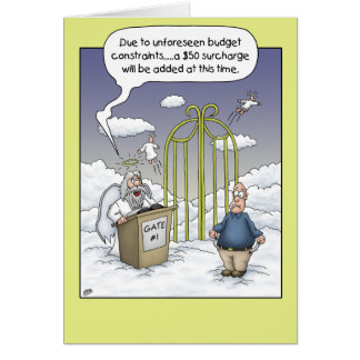 Funny Birthday Cards: Budget Constraints Greeting Card