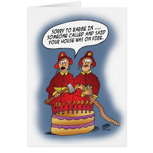 Funny Birthday Cards: Fire Alarm  Zazzle
