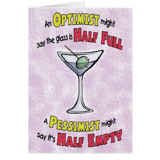 Funny Birthday Cards: Martini Philosophy