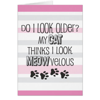 Funny Birthday - CAT Slogan Card