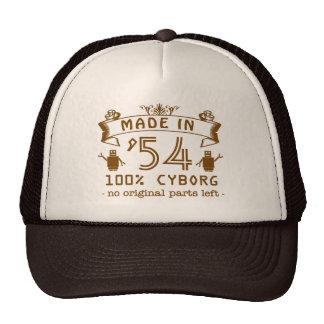 Funny Birthday Cyborg with Customizable Year Trucker Hats