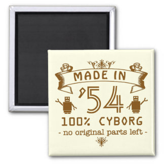 Funny Birthday Cyborg with Customizable Year Magnet
