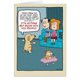 Funny Birthday: Dog Rules Card