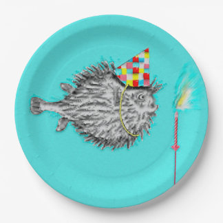 Funny Birthday Fish Paper Plate